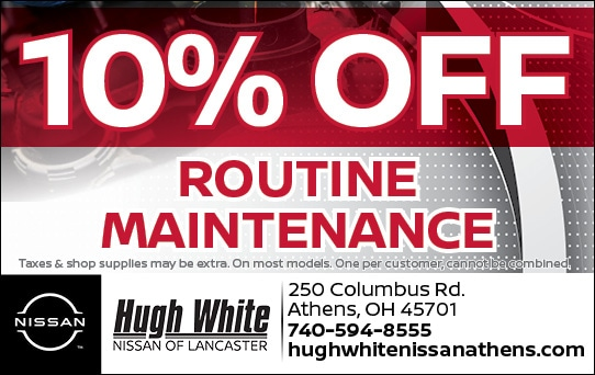 Nissan 10% Off Maintenance Routine Coupon