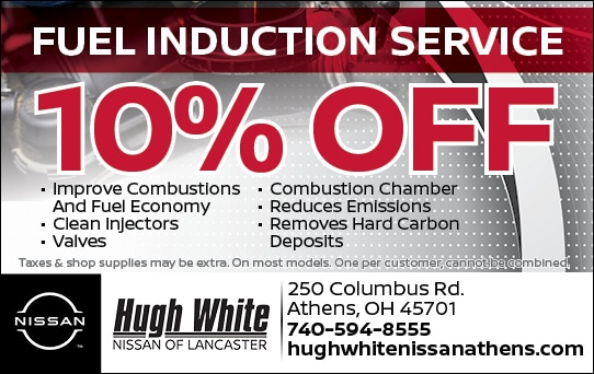 Nissan 10% Off Fuel Induction Service Coupons