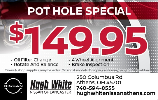 Nissan $149.95 Pot Hole Special Coupons