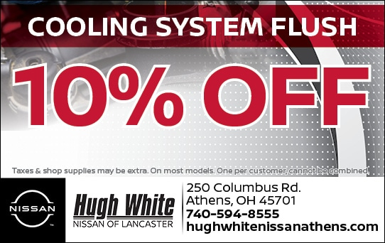 Nissan 10% Off Cooling System Flush