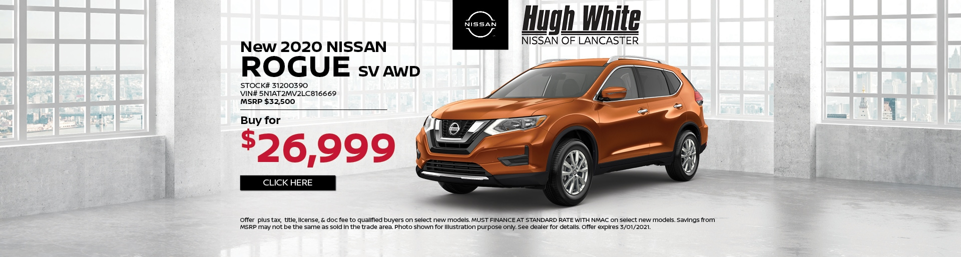 2020 Nissan Rogue Special Offer | Hugh White Nissan Lancaster, OH