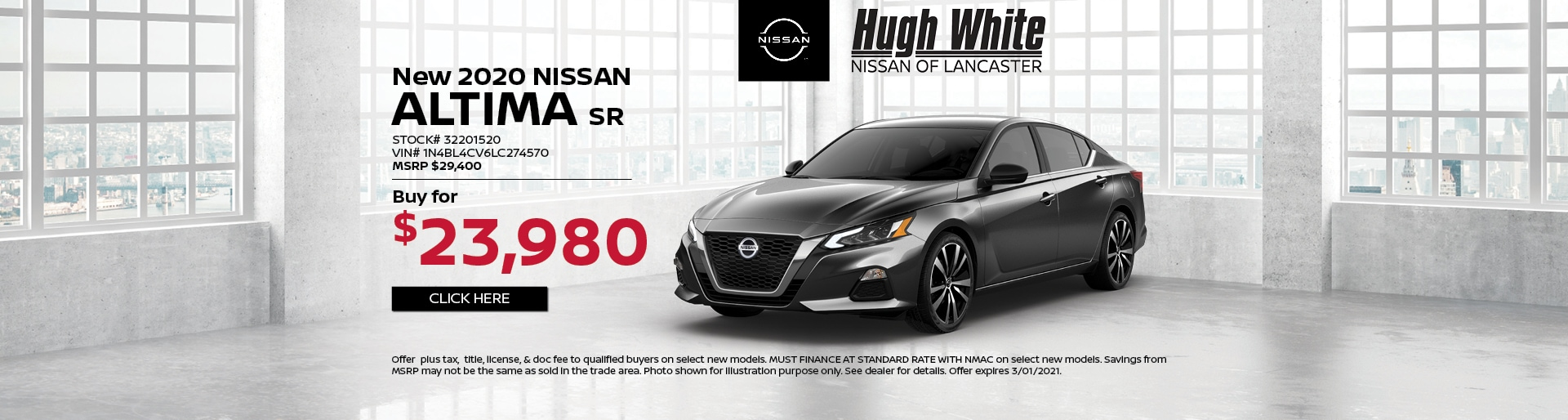2020 Nissan Altima Special Offer | Hugh White Nissan Lancaster, OH