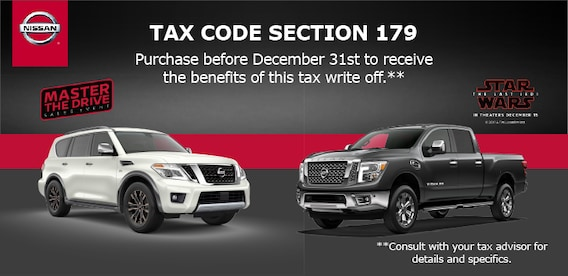 Section 179 Tax Deduction Hunter Nissan