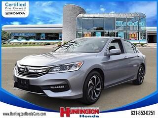 Certified Pre-Owned 2016 Honda Accord EX-L V-6 Sedan for Sale in Huntington, NY at Huntington Honda