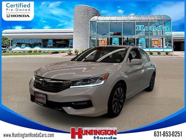 Certified 2017 Honda Accord Hybrid Base Sedan for sale in Huntington NY on Long Island.
