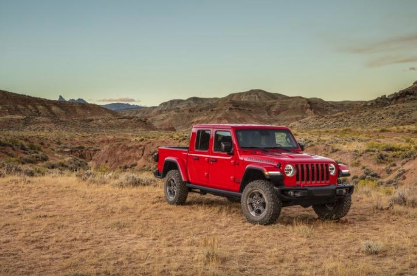 2020 Jeep Gladiator Red Exterior Parked