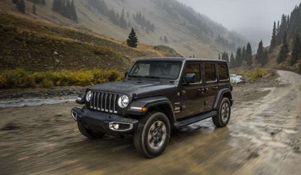 2019 Jeep Wrangler Front Driving Rain Exterior