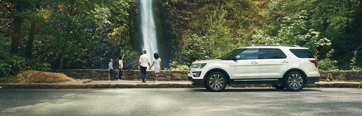 Ford Explorer with a family