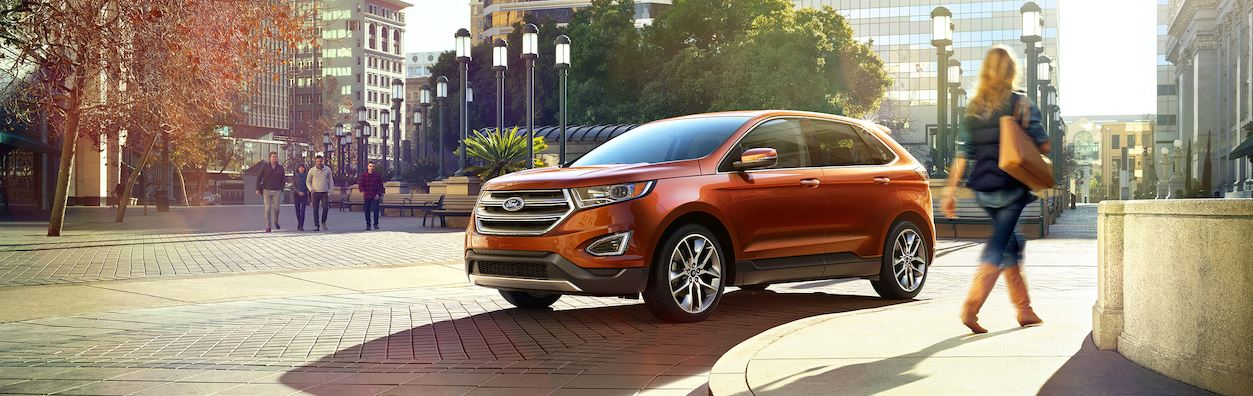 New Ford Edge in a city