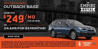 New 2020 Subaru Outback Base