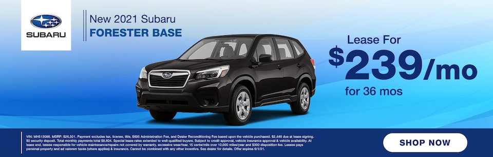 2021 SUBARU FORESTER LEASE OFFER