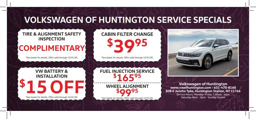Volkswagen Huntington Service Specials