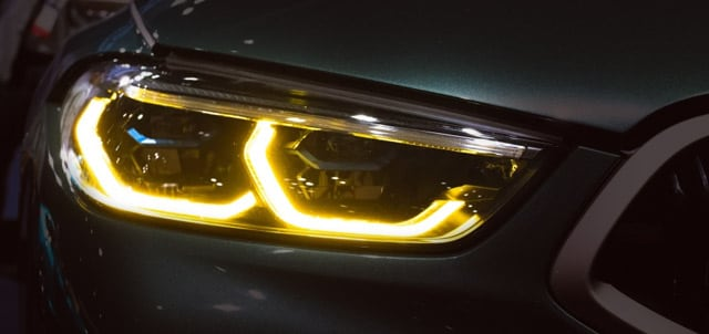 BMW Yellow Headlights