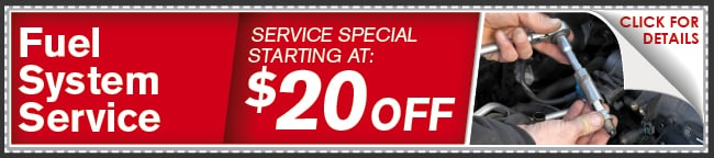 Fuel System Service Coupon, Lincoln