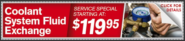 Coolant System Fluid Exchange Coupon, Lincoln