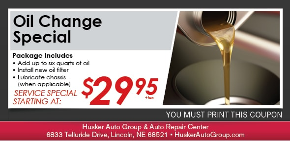 Oil Change, Lincoln, NE Automotive Service Special Special