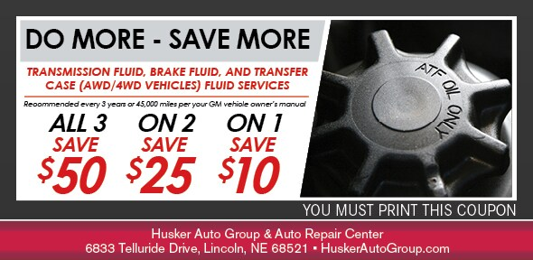 Do-More-Save-More Service Special, Lincoln, NE Automotive Service Coupon. If no image displays, the offer has ended.