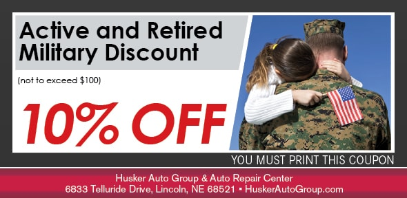 Military Discount Service Special, Lincoln, NE Automotive Service Coupon. If no image displays, the offer has ended.