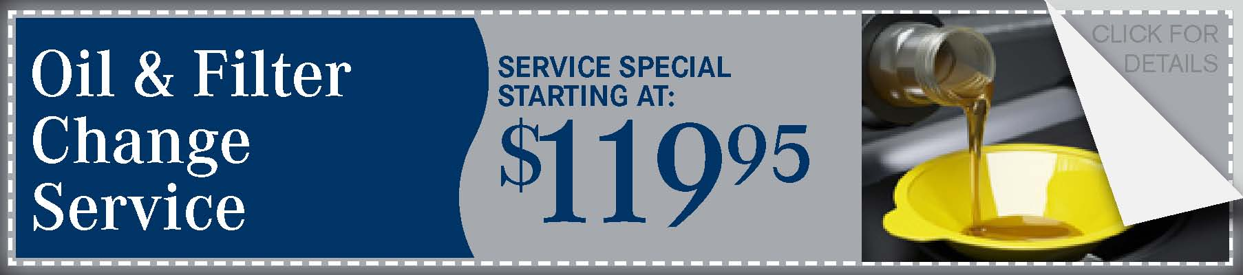 Oil & Filter Change Service Coupon, Lincoln