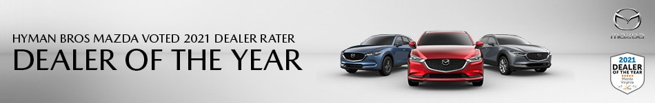 Hyman Bros Mazda Voted 2021 Dealer Rater Dealer of the Year
