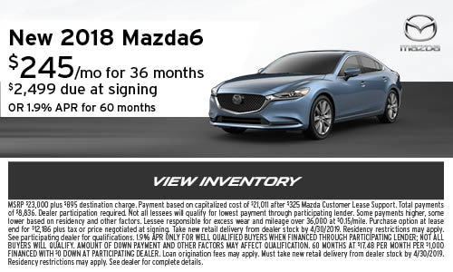 New 2018 Mazda6