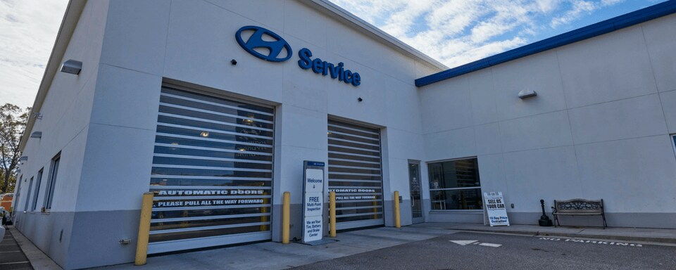 Exterior View Of AutoNation Hyundai 104u0027s Service Center Entrance
