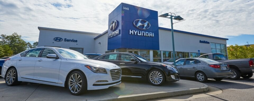 Exterior Shot During The Day Of AutoNation Hyundai Mall Of Georgia, An Auto  Dealership Where