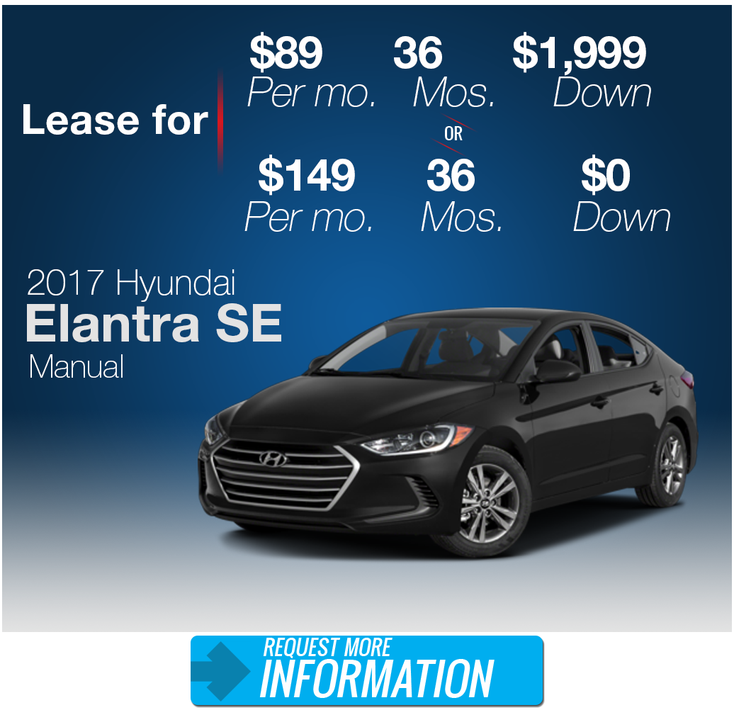 Explore Hyundai Elantra Manual Lease Specials In San Antonio