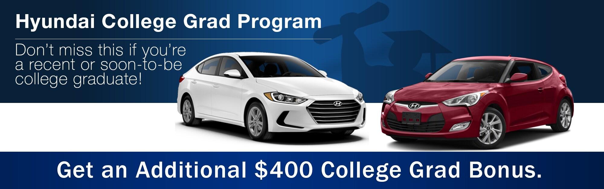 College Grad Program At Red McCombs Hyundai Northwest