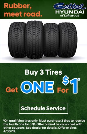 Buy 3 Tires Get One for a $1