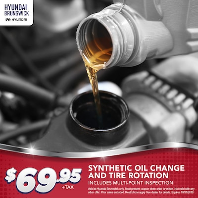 $69.95 Synthetic Oil Change and Tire Rotation