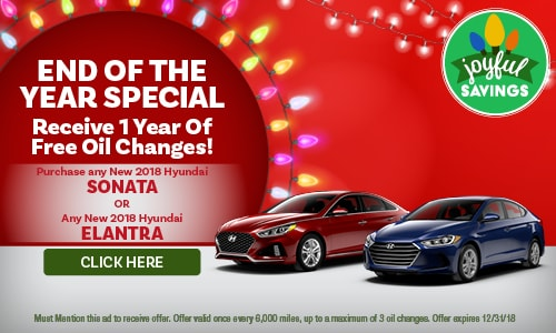 Receive 1 Year of Free Oil Changes