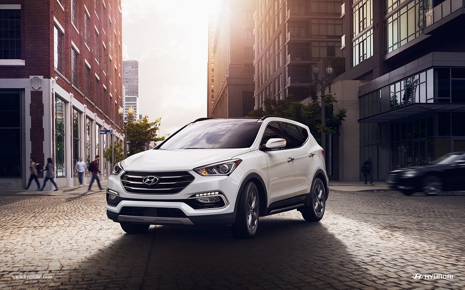 Hyundai Santa Fe Sport in the city