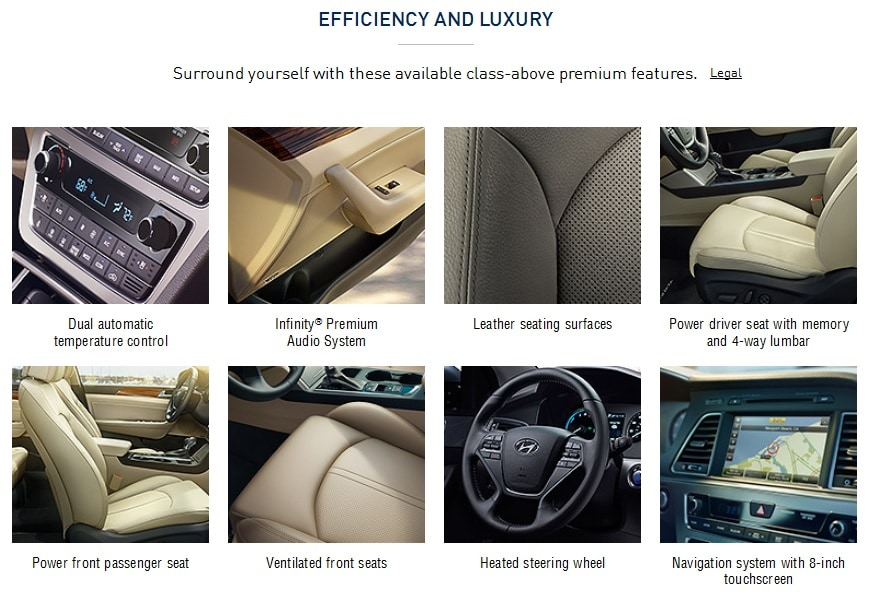 Features in the 2017 Hyundai Sonata Plug-in