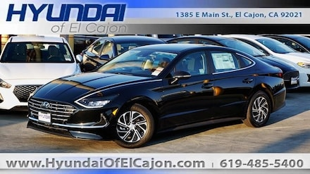 2020 Hyundai Sonata Hybrid Blue Sedan