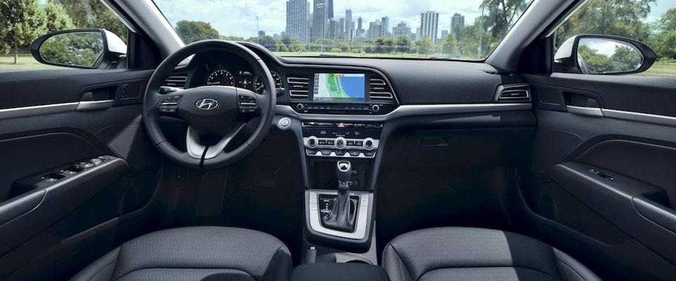 Interior of a 2019 Hyundai Elantra