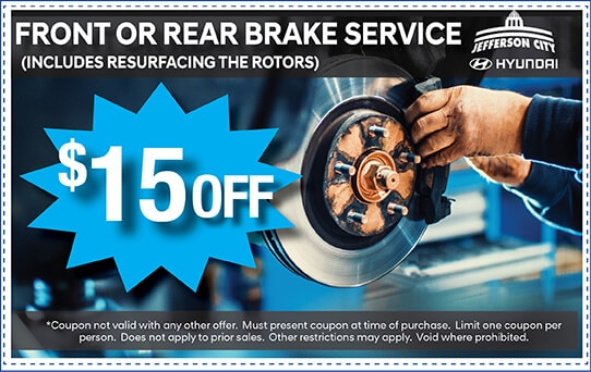 $15 off Front or Rear Brake Service | Jefferson City