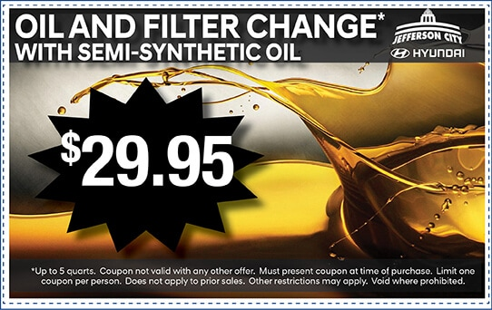 Oil and Filter Change with semi-synthetic oil for $29.95 | Jefferson City, MO