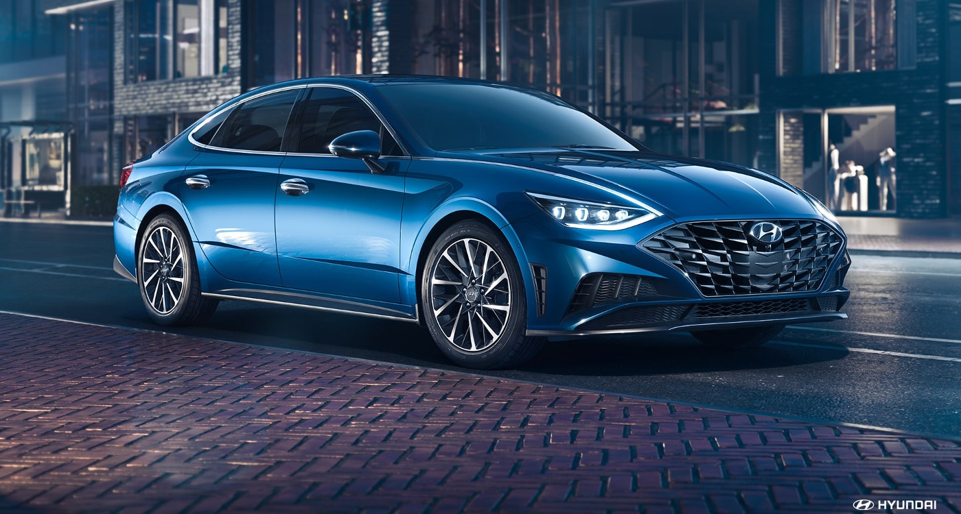 Blue 2020 Hyundai Sonata reveal
