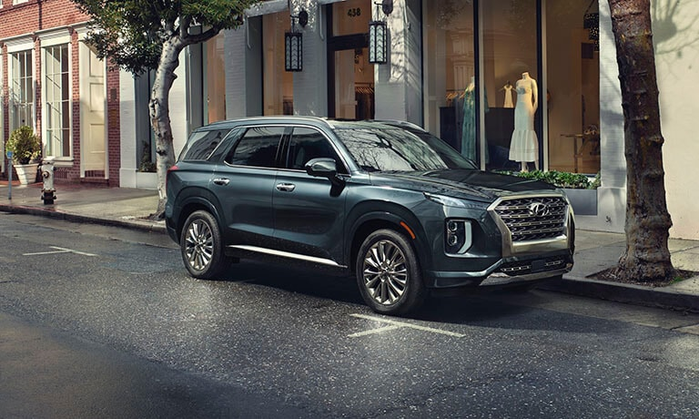 2021 Hyundai Palisade Exterior Parked Outside Dress Shop