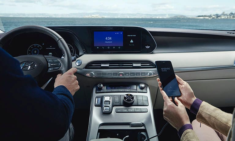 2021 Hyundai Palisade Interior Andrioid Auti Phone Connectivity