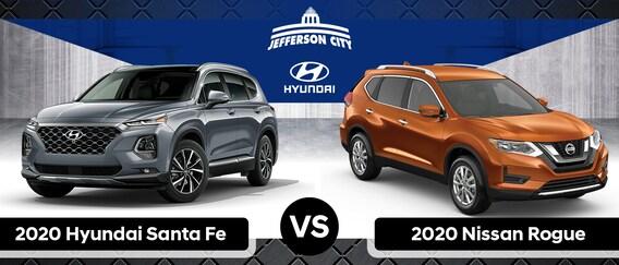 Nissan Rogue Vs Hyundai Santa Fe >> 2020 Hyundai Santa Fe Vs 2020 Nissan Rogue