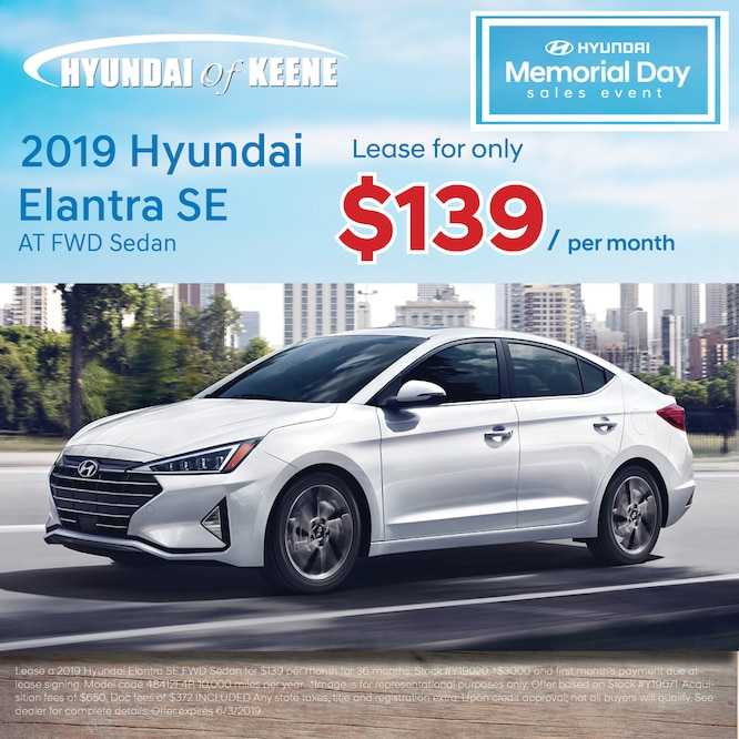 Lease Specials Hyundai Of Keene