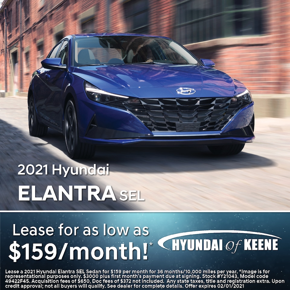 Lease a '21 Elantra for as low as $159/mo!*