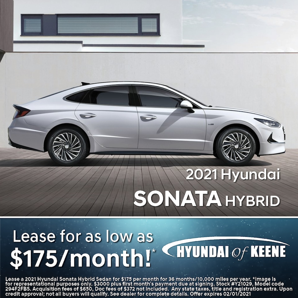 Lease a '21 Sonata Hybrid as low as $175/mo!*