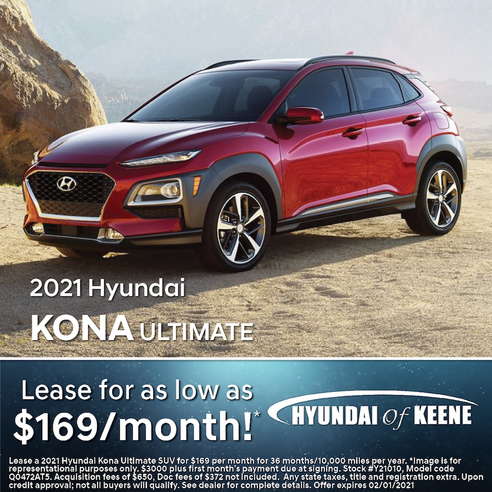 Lease a '21 Kona Ultimate as low as $169/mo!*