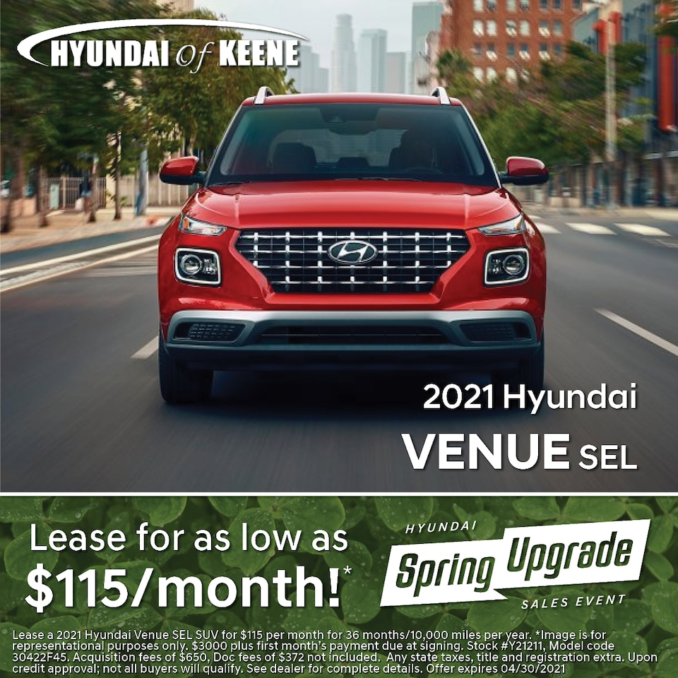 Lease a '21 Venue as low as $115/mo!*