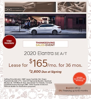 2020 - Elantra - November