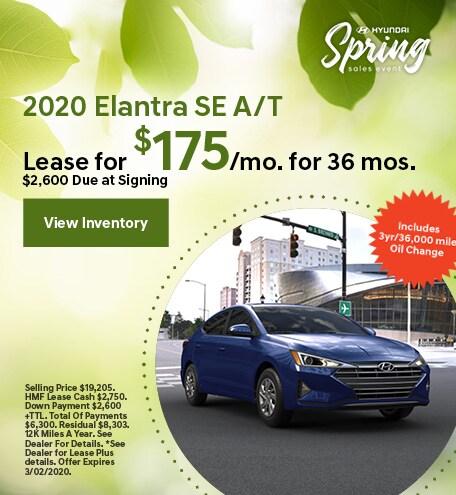 2020 - Elantra - March