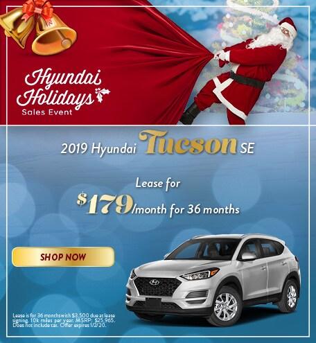 2019 Hyundai Tucson - December Offer